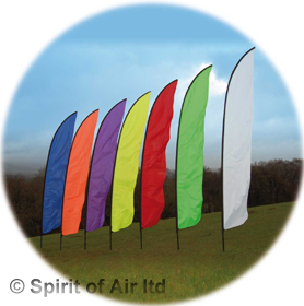 Feather swooper banner 5m red