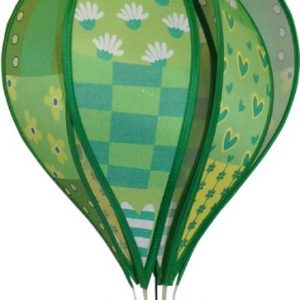 Patchwork GREEN hot air balloon style windspinner by Spirit of Air