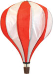 Hot air Balloon spinner windsock - red and white