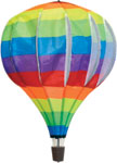 Hot air Balloon spinner windsock - Rainbow