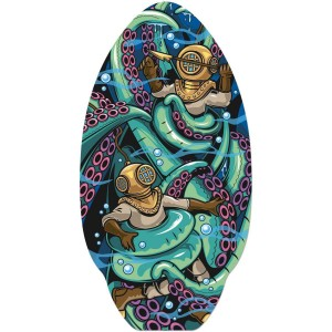 Skimboard with Deep sea diver logo or use for VW camper table
