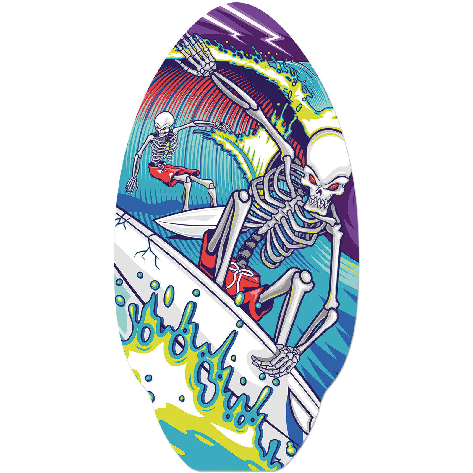 Skimboard with Surfing skeleton logo or use for VW camper table