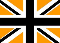 Union Jack flag - Black / Gold / White 5ft x3ft