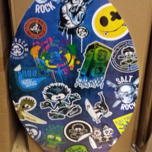Saltrock Skim board Stickered design NEW for 2015 or use for VW camper table