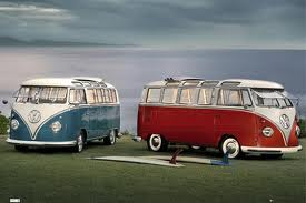 Vw camper poster No 5 _ twin kombi