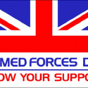 ARMED FORCES DAY flag 5ft x 3ft