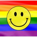 Rainbow smile flag 5ft x 3ft