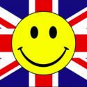 Union jack smile flag 5ft x 3ft