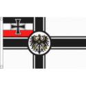 German Imperial flag ( WW1 with crest ) 5ft x3ft popular with classic VW fans
