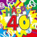 40th Birthday celebration flag 5ft x 3ft