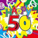 50th Birthday celebration flag 5ft x 3ft