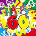 60th Birthday celebration flag 5ft x 3ft