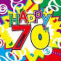 70th Birthday celebration flag 5ft x 3ft