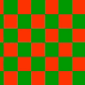 Chequered check flag red green 5ft x 3ft