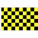 Chequered check flag black/yellow 5ft x 3ft
