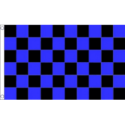 Chequered check flag black/blue 5ft x 3ft
