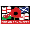 Britain remembers four country flag 5x3ft remembrance day poppy day