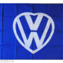 I love my VW heart logo flag – DARK BLUE 5ft x 3ft