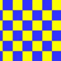 Chequered check flag blue/yellow 5ft x 3ft