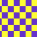 Chequered check flag purple yellow 5ft x 3ft