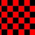 Chequered check flag red black 5ft x 3ft