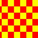 Chequered check flag red yellow 5ft x 3ft