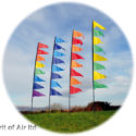 Pendant Banner flag kit for festivals camping garden motorhome or caravan in ORANGE RED