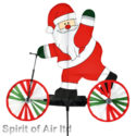 Santa on a scooter windspinner windmill great for garden , Christmas or camping