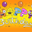 Happy birthday smile flag 5ft x 3ft with eyelets