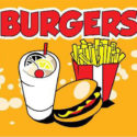 Burgers flag 5ft x 3ft with eyelets