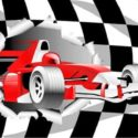 Racing car flag 5ft x 3ft with eyelets