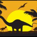 Dinosaur silhouette flag 5ft x 3ft