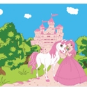Princess pony flag 5ft x 3ft