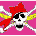 Pirate girl flag 5ft x 3ft