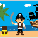 Pirate treasure beach flag 5ft x 3ft