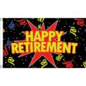 Happy retirement flag 5ft x 3ft