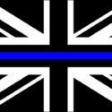 Union Jack thin blue line police flag 5ft x 3ft