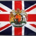Union jack flag with crest 5ft x 3ft