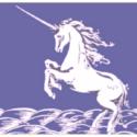 Unicorn flag blue 5ft x 3ft Blue