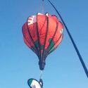 Wales welsh flag hot air balloon windsock
