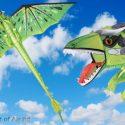 Dragon kite EMERALD GREEN with 195cm wingspan