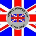 Armed forces day flag 5ft x 3ft with eyelets and date