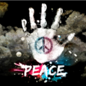 Peace hand digitally printed flag 5ft x 3ft high quality with eyelets