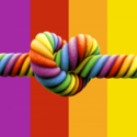 Rainbow knot love knot digitally printed flag 5ft x 3ft high quality with eyelets