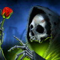 Skeleton with rose digitally printed flag 5ft x 3ft high quality