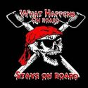 What happens on board stays on board pirate flag 5ft x 3ft with eyelets high quality