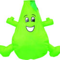 Pear wacky character windsock for telescopic flag poles or garden ornaments and camping festivals